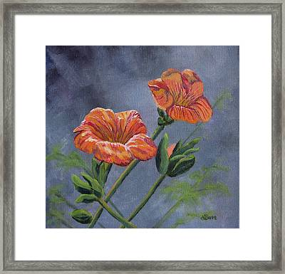Orange You Ready For Spring Framed Print by Lisa Barr