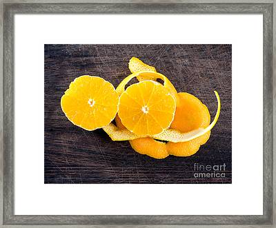 Orange Zest Framed Print by Frank Bach