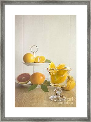Orangeade 2 Framed Print by Elena Nosyreva