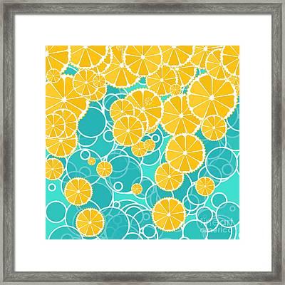 Oranges And Bubbles Framed Print by Gaspar Avila