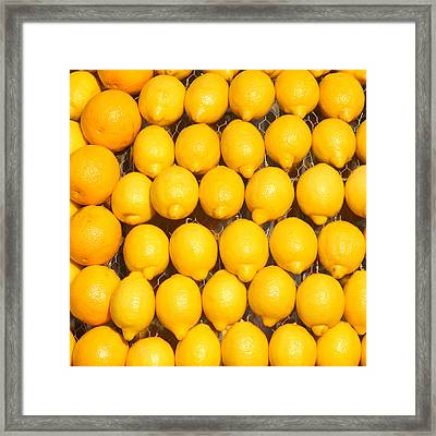 Oranges And Lemons Framed Print by Art Block Collections