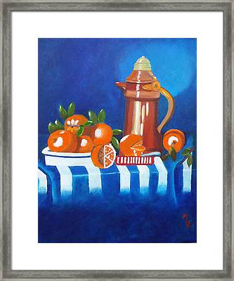Oranges Are Good For You Framed Print