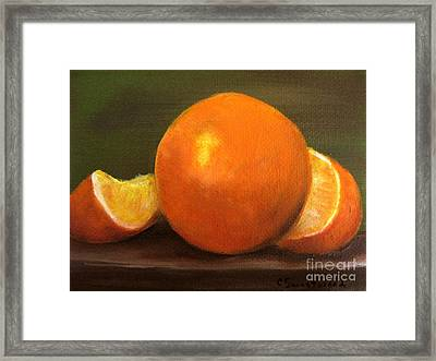 Framed Print featuring the painting Oranges by Carol Sweetwood