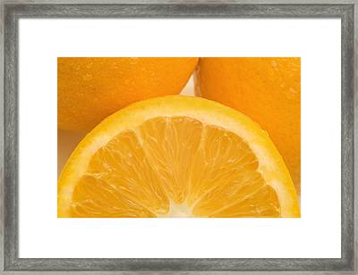 Oranges Framed Print by Darren Greenwood