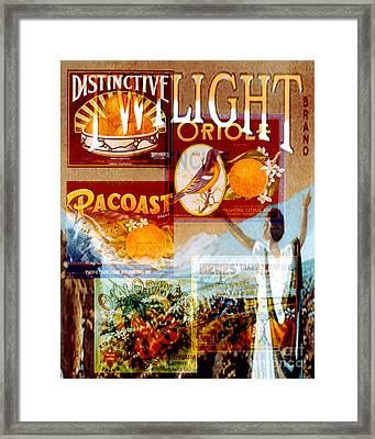 Oranges Framed Print by David Mendoza