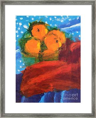 Oranges Framed Print