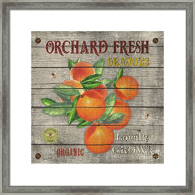 Oranges-jp2677 Framed Print by Jean Plout