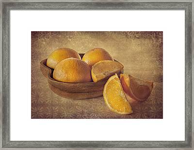 Oranges Framed Print by Lyn Darlington
