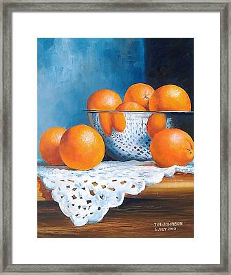 Oranges Framed Print by Tim Johnson
