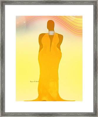 Orangewavechic Framed Print by Romaine Head