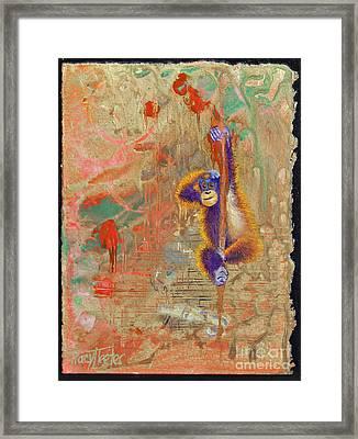 Orangutan Abstract Framed Print by Tracy L Teeter