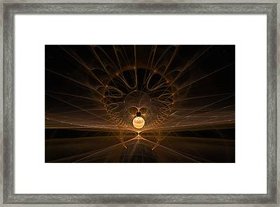 Framed Print featuring the digital art Orb by GJ Blackman