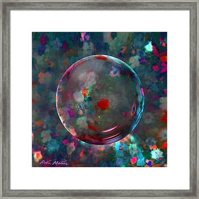 Orbed In Spring Blossom Framed Print by Robin Moline