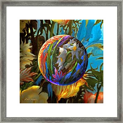 Orbing Aloha Lei Framed Print by Robin Moline