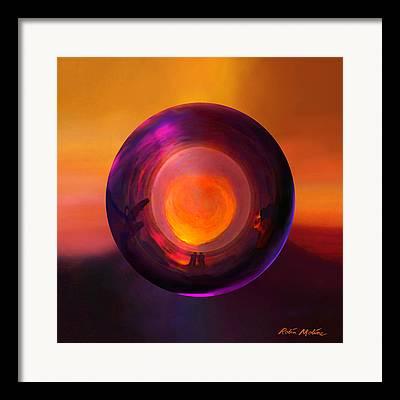 Sunset Abstract Digital Art Framed Prints