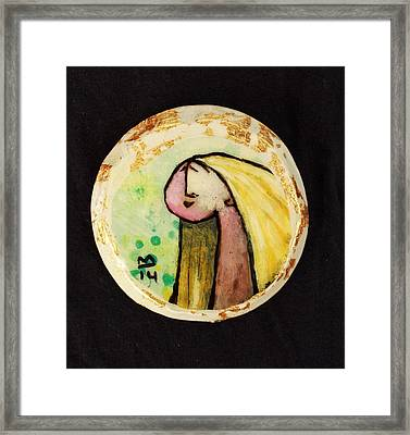 Orbis Woman With Yellow Hair  Framed Print