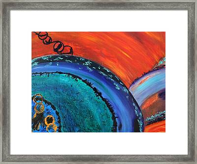 Orbit Framed Print by Victoria  Johns