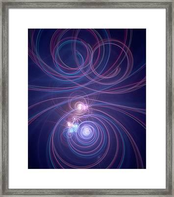 Orbital Motion Framed Print