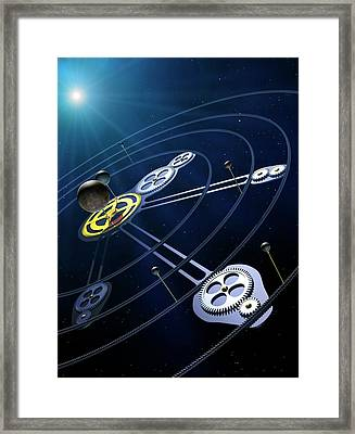 Orbital Resonances In The Pluto System Framed Print by Mark Garlick