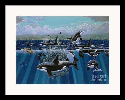 Whale Watching Framed Prints