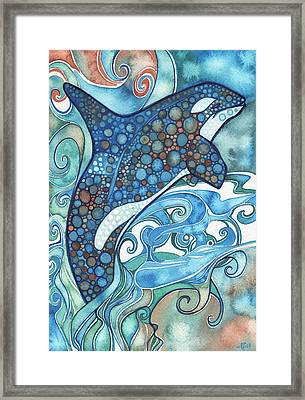 Orca Framed Print by Tamara Phillips
