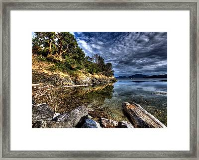Orcas Island Waterfront Framed Print