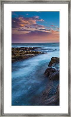 Orcas Triptych 1 Framed Print by Robert Bynum