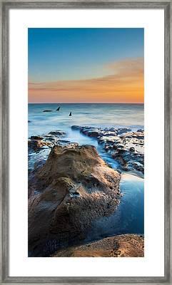 Orcas Triptych 2 Framed Print