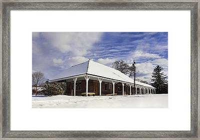 Orchard Park Depot Framed Print by Peter Chilelli