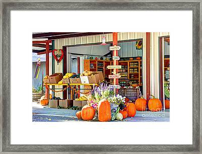 Orchard Valley Market Framed Print by Bob Hislop