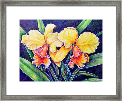 Orchestrated Camouflage Framed Print by Gail Butler