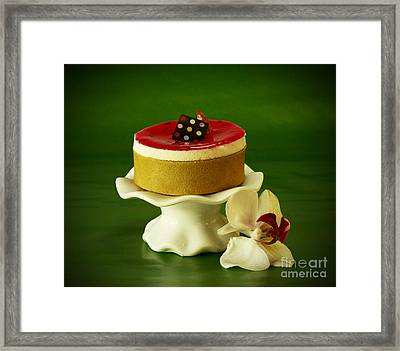 Orchid And Raspberry Pistachio Mousse Dream Framed Print
