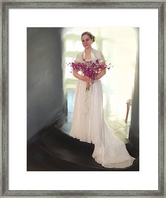 Orchid Bride Framed Print by Donna  Martin