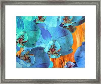 Orchid Cascade Framed Print by Lynda Lehmann