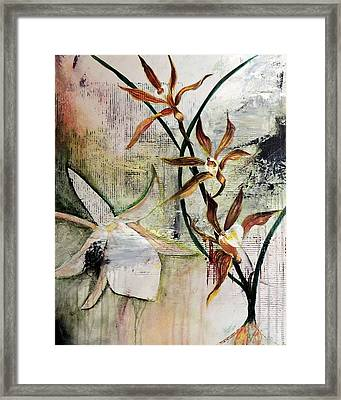 Orchid Fields - D2 Framed Print by Vivian Mora