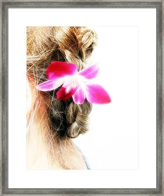 Orchid Lady Framed Print by Randi Kuhne