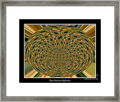 Orchid Polar Coordinate Framed Print by Rose Santuci-Sofranko