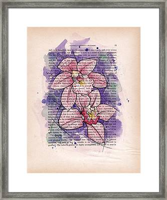 Orchid Study I Framed Print by Rudy Nagel