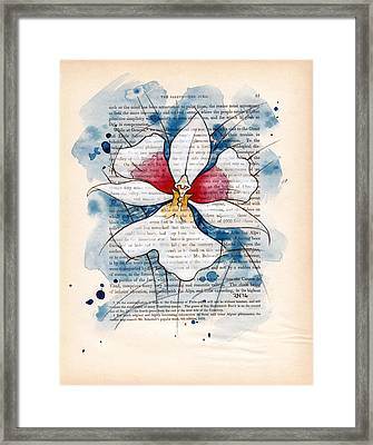 Orchid Study II Framed Print by Rudy Nagel