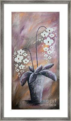 Orchids Framed Print by Home Art