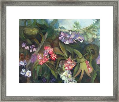 Orchids I Framed Print by Susan Hanlon