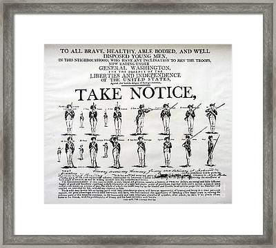 Order Of Battle - Take Notice Brave Men Framed Print by Susan Carella