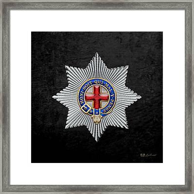 Order Of The Garter Star On Black Velvet Framed Print