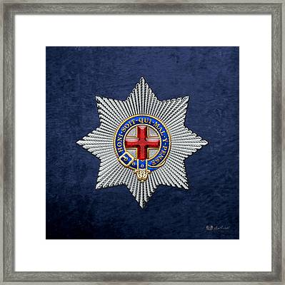 Order Of The Garter Star On Blue Velvet Framed Print