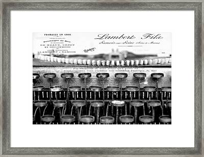 Ordering Cheese Bw Framed Print by Angelina Vick