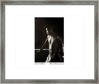 Ordinando Wilson Framed Print by Tina Manley