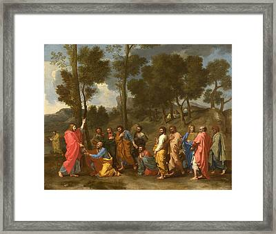 Ordination Framed Print by Nicolas Poussin