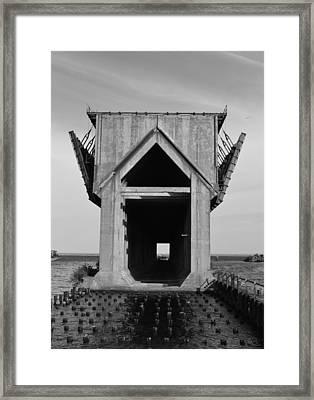 Ore Dock Marquette Michigan Framed Print