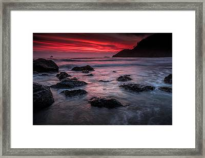 Oregon Afterglow Framed Print by Rick Berk