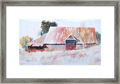 Oregon Barn Framed Print by John  Svenson